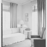 Russel Wright, residence at 7 Park Ave., New York City. Bedroom I