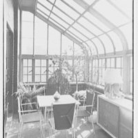 Russel Wright, residence at 7 Park Ave., New York City. Terrace