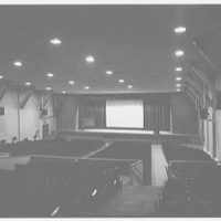 U.S. Coast Guard Academy, Reserve Cadet Buildings, New London, Connecticut. Auditorium, to stage