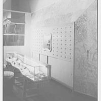 Balch Price, business in Brooklyn, New York. Long jewelry counter, vertical