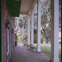 Bernard M. Baruch, Hobcaw Plantation, residence in Georgetown, South Carolina. Terrace