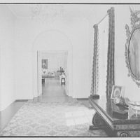 "Chauncey D. Stillman, ""Wethersfield"", residence in Amenia, New York. Entrance hall, to living room"