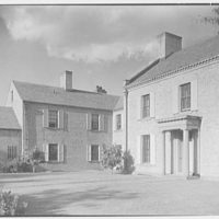 "Chauncey D. Stillman, ""Wethersfield"", residence in Amenia, New York. Entrance view V"
