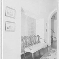 "Chauncey D. Stillman, ""Wethersfield"", residence in Amenia, New York. Stair hall niche"