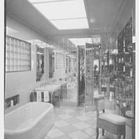 Dr. and Mrs. Richard H. Hoffman, residence at 870 Park Ave., New York City. Bathroom
