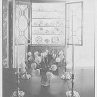 Ellen Ballon, residence at 2 W. 67th St., New York City. Dining room cabinet