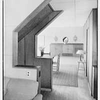 Francis Biddle, residence in Harvey Cedars, New Jersey. Dining room, from living room
