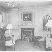Harmon Spencer Auguste, The Ledges, residence in Harrison, New York. Pine room