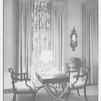 Harvey Newins, residence at 1 Beekman Place, New York City. Living room game table