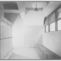 Kings County Hospital, Brooklyn, New York. New kitchen building, locker room
