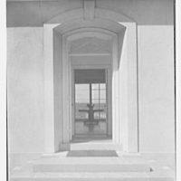 Lewis Stuyvesant Chanler, Jr., residence in Rhinebeck, New York. Entrance detail