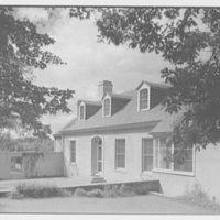 Lewis Stuyvesant Chanler, Jr., residence in Rhinebeck, New York. Entrance facade, from right