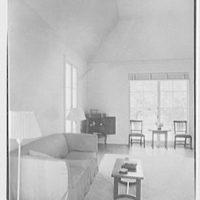 Lewis Stuyvesant Chanler, Jr., residence in Rhinebeck, New York. Living room, side wall