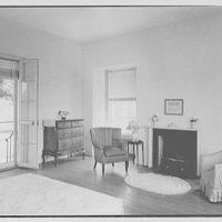 Lewis Stuyvesant Chanler, Jr., residence in Rhinebeck, New York. Master bedroom