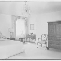 Mr. and Mrs. Camille Dreyfus, residence at Fenimore Rd. and Cornell St., Mamaroneck, New York. Master bedroom
