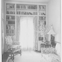 Mr. and Mrs. Camille Dreyfus, residence at Fenimore Rd. and Cornell St., Mamaroneck, New York. Sitting room