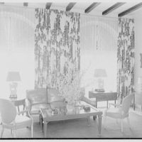 Mr. and Mrs. Camille Dreyfus, residence at Fenimore Rd. and Cornell St., Mamaroneck, New York. Sofa group in living room