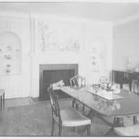 Mr. and Mrs. James R. Sheldon, Caliboque, residence in Greenwich, Connecticut. Dining room I