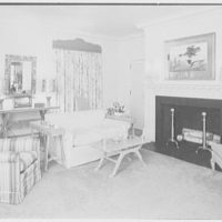 Mr. and Mrs. James R. Sheldon, Caliboque, residence in Greenwich, Connecticut. Living room, to fireplace