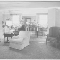 Mr. and Mrs. James R. Sheldon, Caliboque, residence in Greenwich, Connecticut. Living room, to piano