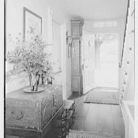 Mr. and Mrs. T. Ferdinand Wilcox, residence on Smith Ridge Rd., New Canaan, Connecticut. Stair, hall