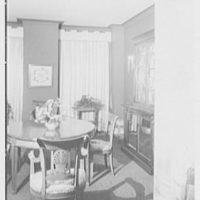 Mr. Edward B. Meyer, residence, River House, New York City. Dining room, to screen