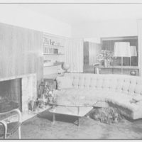 Mr. George Daub, residence at 2123 Delancey Place, Philadelphia, Pennsylvania. Living room sofa and dog