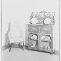 Mrs. Benson E. Brown, residence at 941 Park Ave., New York City. China cupboard