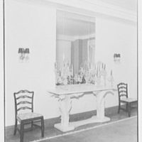Mrs. H. Green, residence at 770 Park Ave., New York City. Dining room, side table
