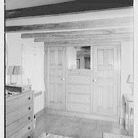Mrs. John Taylor, residence in Stockton, New Jersey. Bedroom closet, closed