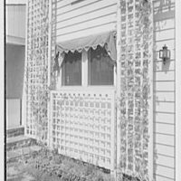 Mrs. John Taylor, residence in Stockton, New Jersey. Lattice detail