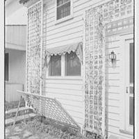 Mrs. John Taylor, residence in Stockton, New Jersey. Lattice detail, down