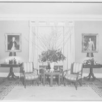 Mrs. O.M. Burke, residence at 770 Park Ave., New York City. Living room, to window