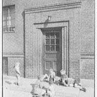 Newark Housing Authority, 57 Sussex Ave., Newark, New Jersey. Hyatt Court doorway