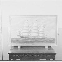 """Seamen's Bank for Savings. Copy of painting, """"Daniel Barnes"""""""