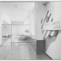 Service Women's Lounge, Broad St. Station, Philadelphia, Pennsylvania. Entrance, detail