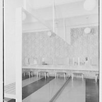 Service Women's Lounge, Broad St. Station, Philadelphia, Pennsylvania. Powder room, large mirror