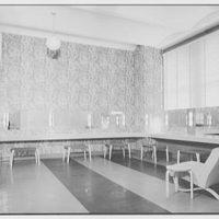 Service Women's Lounge, Broad St. Station, Philadelphia, Pennsylvania. Powder room, from door
