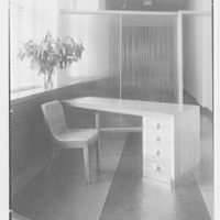 Service Women's Lounge, Broad St. Station, Philadelphia, Pennsylvania. Reception desk detail, in lounge