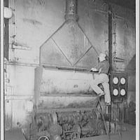 U.S. Capitol power plant. Coal hoppers alteration in boiler room of U.S. Capitol power plant II