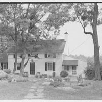 William F. Dominick, residence on Stanwich Rd., Greenwich, Connecticut. Entrance facade I
