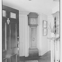 William F. Dominick, residence on Stanwich Rd., Greenwich, Connecticut. Entrance hall