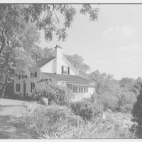 William F. Dominick, residence on Stanwich Rd., Greenwich, Connecticut. House over rock garden I