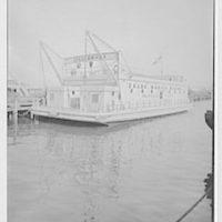 "Zalud Mobile Marine Inc., ""Lillian II"" workshop barge. Vertical"