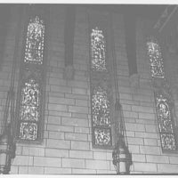 Church of St. Stephen, Laurel and Kearny Aves., Arlington, New Jersey. Sanctuary windows