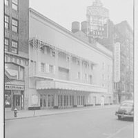 Coronet Theatre, W. 49th St., New York City. Exterior, by day