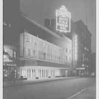 Coronet Theatre, W. 49th St., New York City. Exterior, by night