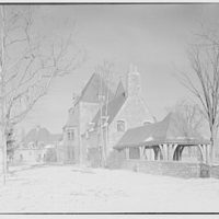 Dr. Charles V. Paterno, Round Hill, residence in Greenwich, Connecticut. Exterior from southeast