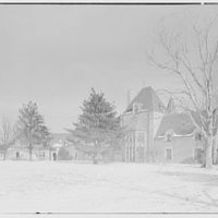 Dr. Charles V. Paterno, Round Hill, residence in Greenwich, Connecticut. Exterior from southeast, general view