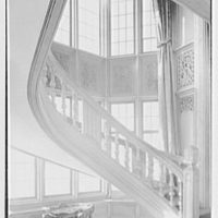 Dr. Charles V. Paterno, Round Hill, residence in Greenwich, Connecticut. Staircase